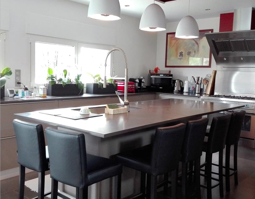 cuisine sagne mod le bor al taupe d fibr. Black Bedroom Furniture Sets. Home Design Ideas